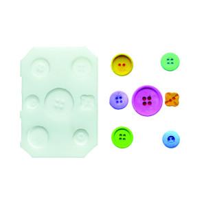 Molde de silicona botones 2