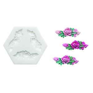 Molde de silicona corona de rosas
