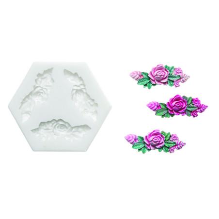 Comprar Molde de silicona corona de rosas
