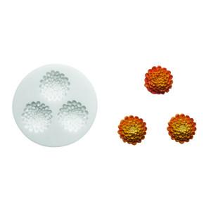 Molde de silicona flores 2