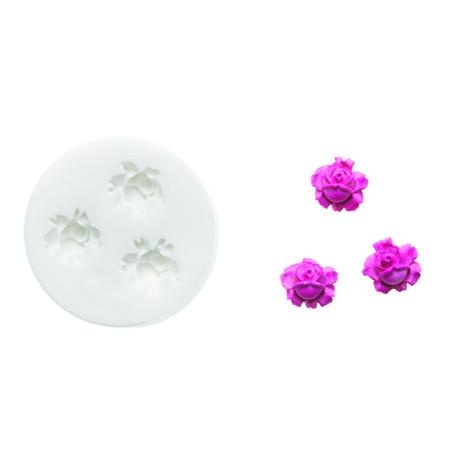 Comprar Molde de silicona Flor Rosas 2