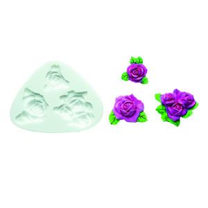 Molde de silicona rosas variadas