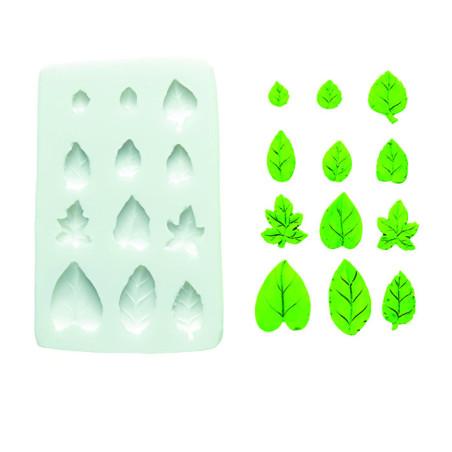 Comprar Molde de silicona hojas variadas