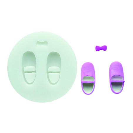 Comprar Molde de silicona zapatos de bebe