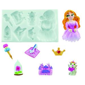 Molde de silicona princesa