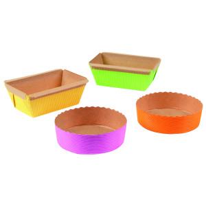 Molde de papel de colores (48 ud)