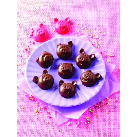 Comprar Molde para Chocolate Cabezas de Cerdito