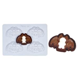 Molde de Plástico con Figura de Murciélago para Halloween