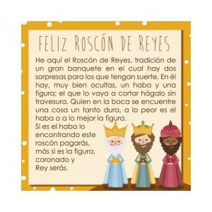 Tarjeta Roscón de reyes