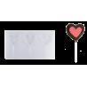 Molde Piruletas Corazón
