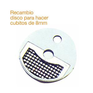 Recambio de disco inoxidable para hacer cubitos de 8mm