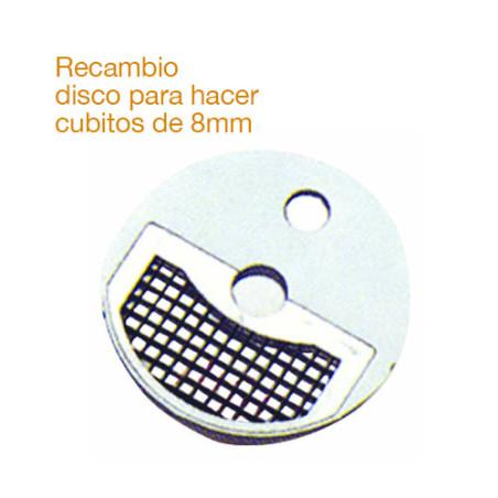 Comprar Recambio de disco inoxidable para hacer cubitos de 8mm