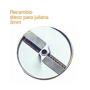 Recambio de disco inoxidable para hacer juliana de 3mm