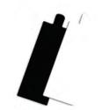 Comprar Soporte cartón rectangular 13x4,5 cm. con lengüeta para postres Profesional