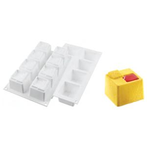 Molde 8 Cubos Cuadrados Silicona
