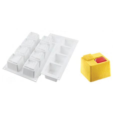 Comprar Molde 8 Cubos Cuadrados Silicona