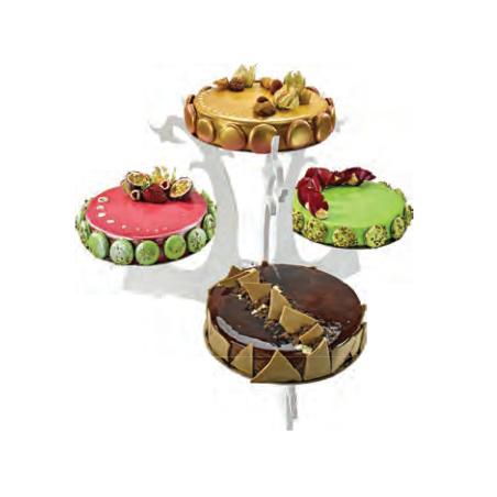 Comprar Expositor Tartas en Plexiglás 4 Platos