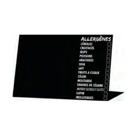 Comprar Etiqueta Chevalet Negro Alergénicos  7 x 5 cm.