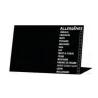 Etiqueta Chevalet Negro Alergénicos  7 x 5 cm.
