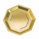 Comprar Plato Octogonal Oro (240 ud.) Profesional