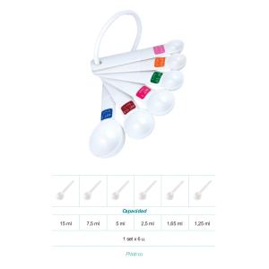 Comprar Set 6 Cucharas Medidoras en Plástico