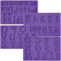 Comprar Set 4 Tapetes Letras y Números Wilton Profesional