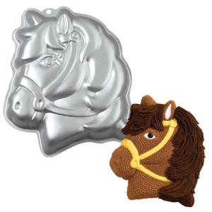 Molde Bizcocho con Forma Cabeza Pony Wilton