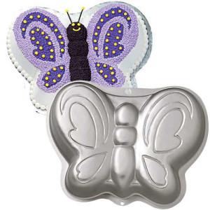 Molde Bizcocho con Forma Mariposa Wilton