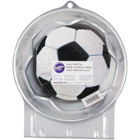 Comprar Molde Bizcocho con Forma Balón Fútbol Wilton