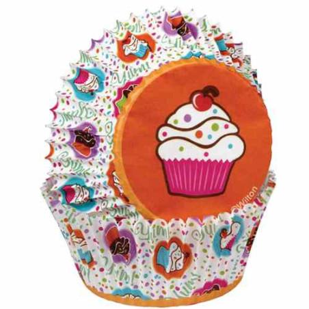 Comprar Cápsulas Hornear Fiesta de Cupcakes 75 ud. Wilton