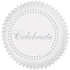 Cápsulas Hornear Celebración Plata 75 ud. Wilton