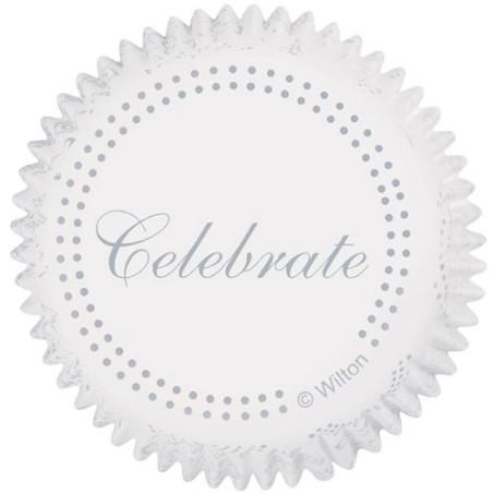 Comprar Cápsulas Hornear Celebración Plata 75 ud. Wilton