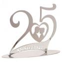 Comprar 25 Aniversario Metal Plata 2 ud. Profesional