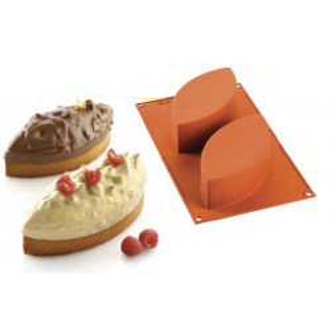 Molde Cake con Forma de Hoja MK SilikoMart