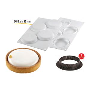 Comprar Kit 4 Tartaletas y Molde Silicona Redondo