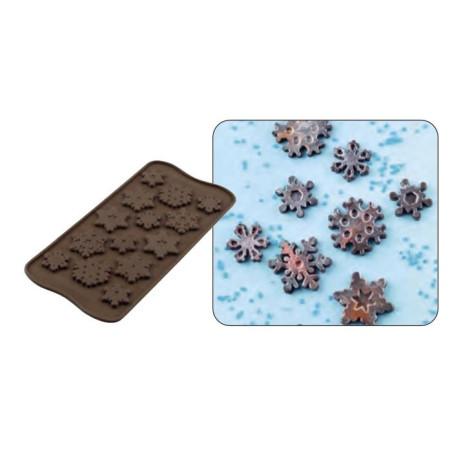 Comprar Placa Molde Silicona 14 Copos de Nieve