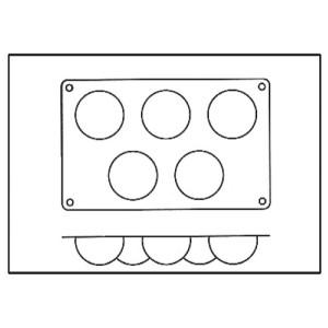 Molde de Silicona con 5 Semiesferas