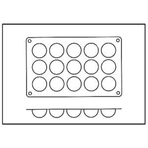 Molde con Forma de 15 Semiesferas de Silicona