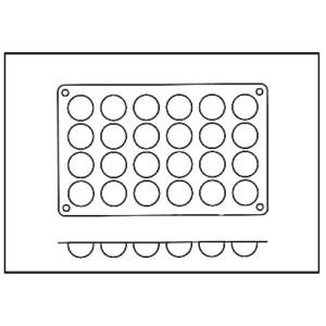 Molde con Forma de 24 Semiesferas de Silicona