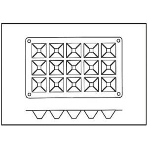 Molde con Forma de 15 Pirámides de Siliciona