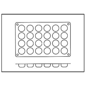 Molde con Forma de 24 Pompones de Silicona