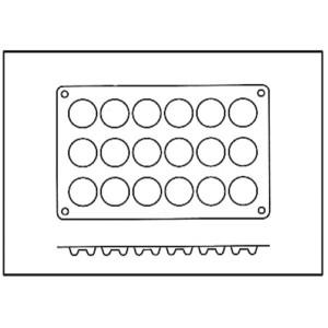 Molde de Silicona con Forma de 18 Mini Savarín o Rosquillas