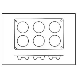 Molde con Forma de 6 Roscos o Savarín de Silicona