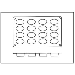 Molde con 16 Formas Ovaladas de Silicona