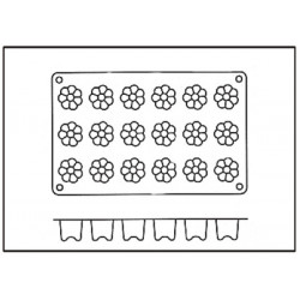 Molde con Forma de 18 Mini Burdeos de Silicona