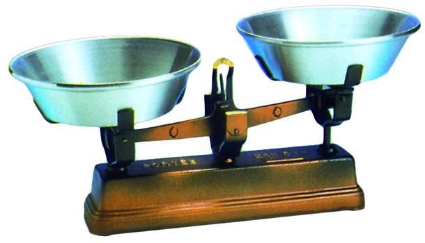 Bascula clásica con platos de alumínio