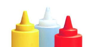 Biberón de Cocina de plástico en colores y transparente