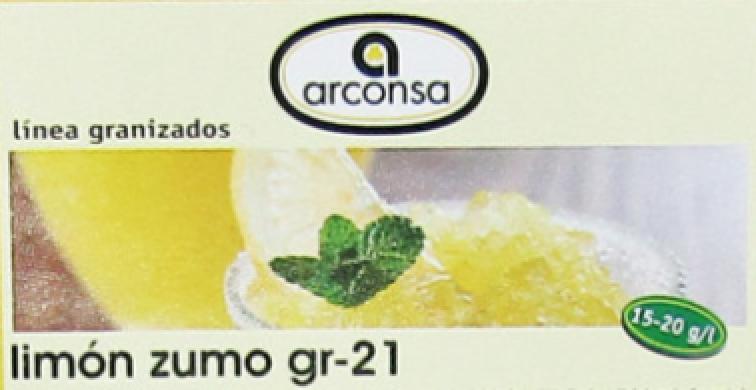 Receta de Limón Granizado con concentrado Profesional