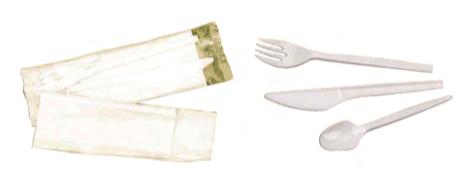 Cubiertos Desechables de Plástico y Madera