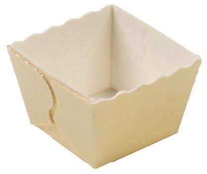 Molde de cartón pequeño para hornear porciones individuales.